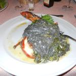 Black Ink Pasta with Lobster...It was delcious...