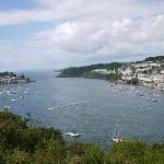 Looking down on Fowey from the Hall Walk.