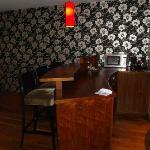 Bar area in luxury suite