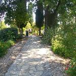 walking around the gardens