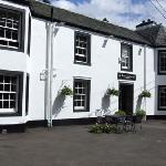 The freshly painted front of The Tormaukin Hotel in Perthshire