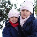 Invierno 2009, frente a la cabaña