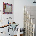 Beautiful bathroom, all designed by local artists and artisans