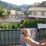 From balcony towards old village