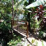Bridge by pousada stream