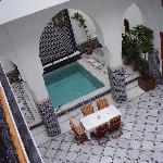 vista patio dal secondo piano