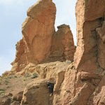 Smith Rock SP - look closely, climber near top