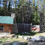front of cabin, Storage Shed
