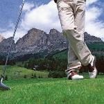 Playing golf at Carezza