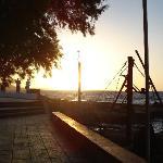 Sunset on the little promenade