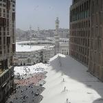 View of the Haram from Hotel room