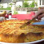 homemade tarte aux pommes for breakfast al fresco