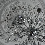 Swarovski chandelier in room