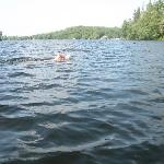 Swimming in Lake Kashagawigamog near WBCs