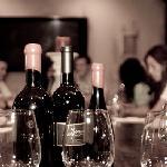 having some wine at Leonesse