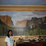 Wonderful dinning room with Yosemite Valley mural