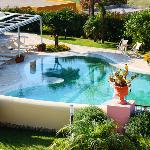 Hotel Tritone Pool as seen from Room 210-Lipari