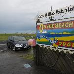 Entrance to the backpakers. The beach is just a stone's throw away.