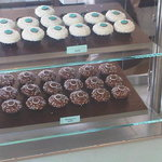 Glass wall of cupcakes!