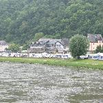 Camp site on the banks of the Rhine