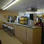 Na-Bers Drive-In interior & our carhop