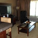 Suite with massage chair in living room