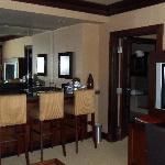 Bar area in suite living room