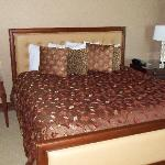 Massive king size bed in suite