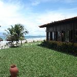 Vista lateral do restaurante