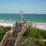 just a walk over the bridge between your room & the beach!