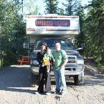 Guest visiting RV Park