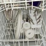The dishwasher was broken and had standing dirty dish water for several days