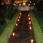 candlelight courtyard