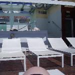 tumbonas en la sun terraze