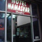 Outside Hotel Namaskar