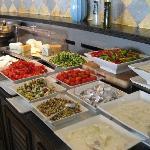 Part of the breakfast buffet