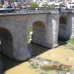 The stone bridge leading to Arequipa
