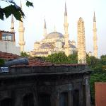 view of the Blue Mosque from our room