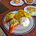 Excellent fresh-caught lobster and ceviche dinner