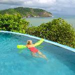 Enjoying pool and view!