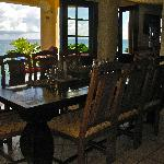 Dramatic view of ocean from dining table