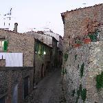 Volterra's narrow streets near the city walls
