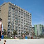 view of the hotel from the beach, Tides/Driftwood building