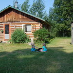 The log cabin - our home for a week