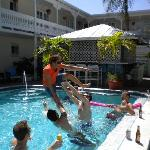 The pool was a riot