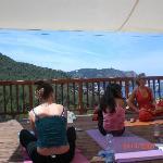 Yoga deck at Villa Palma overlooking Benirras beach