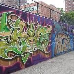 Groovy graffiti nearby