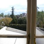 View out the window from Le Attic