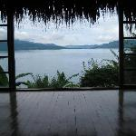View of Lake Atitlan from the yoga studio