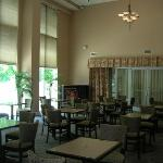 beautiful lobby/breakfast area